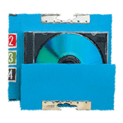 Media-File Collective Blue (100/bx) for up to 3 CD jewel cases.