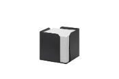 Memo Cube Re-Solution w/memo pad (700) sheets. Matte Black. 100% postconsumer recycled plastic.