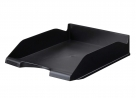 Re-Solution Letter Tray. Fits Letter and A4 size documents and folders and is stackable. Made of 100% postconsumer recycled polystyrene plastic material.