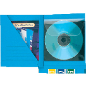 Media-File Insert Blue (100/bx) for up to 2 CD's w/o jewel case.