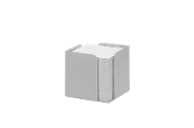 Memo Cube Re-Solution w/memo pad (700) sheets. Grey. 100% postconsumer recycled plastic. Sold by each.